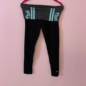 VS leggings with teal detailing